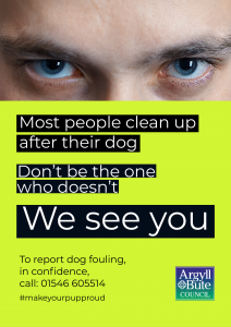 A poster with eyes watching you with the title 'We see you'