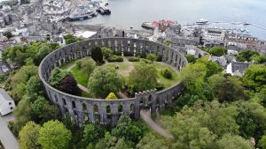 Aerial view of Mccraigs Tower, Oban