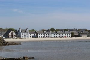 A view of Port Ellen, Islay taken from the water