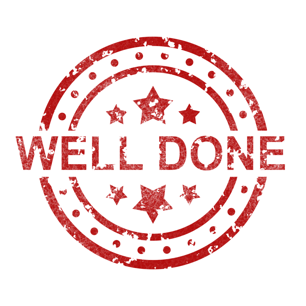 A well done sign