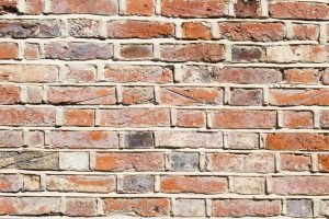 A brick wall with lime mortar